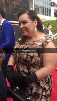 """No Houghs yet, but Tessandra Chavez is here!"" - Emmy Awards - September 12, 2015 Courtesy KristynBurtt twitter"